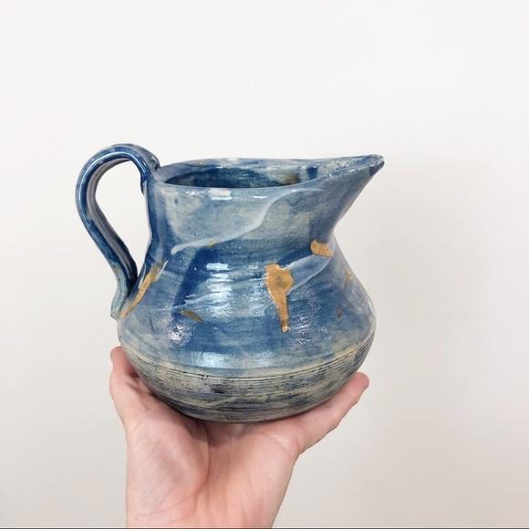 Vintage Other - Handmade Ceramic Pottery Pitcher / Vase